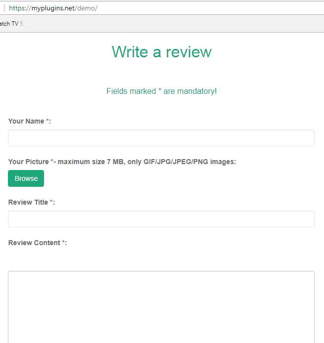 My WordPress Plugin for Customer Reviews