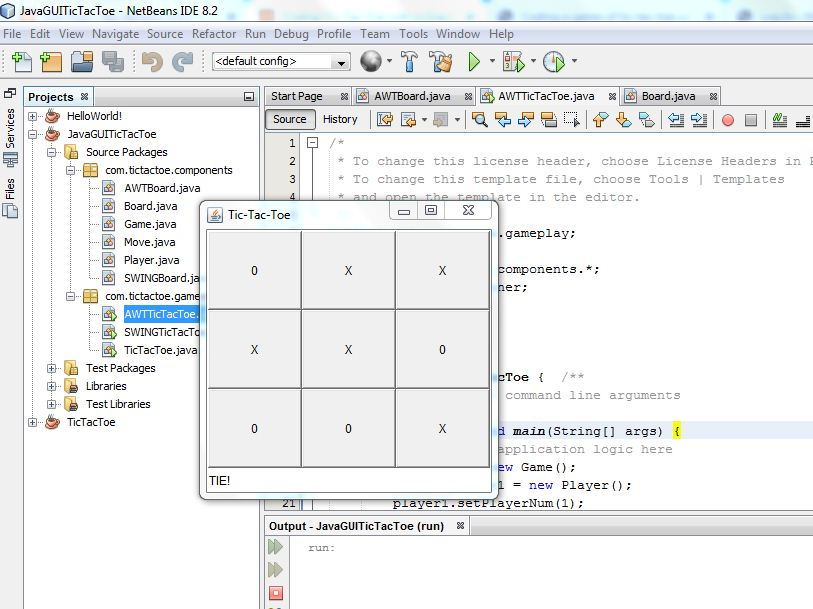 Coding Tic-Tac-Toe with a Graphical User Interface
