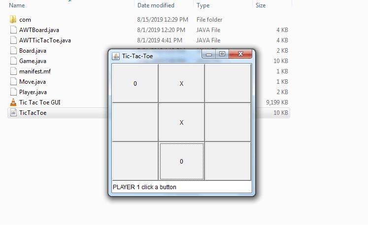 Deploying Tic-Tac-Toe Java GUI app