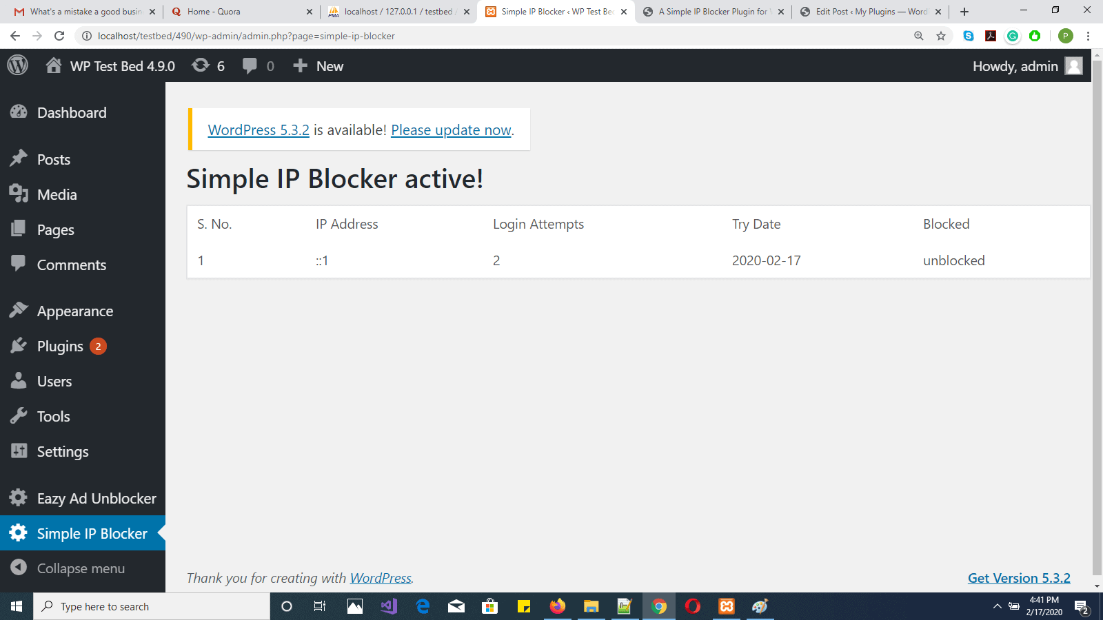 A Simple IP Blocker Plugin for WordPress